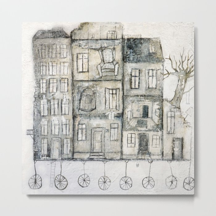 old house-transport Metal Print