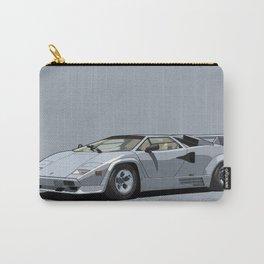 Lamborghini Countach 5000QV Argento Luna (US spec) Carry-All Pouch
