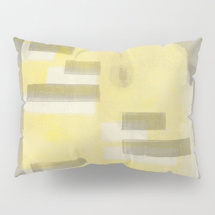 Stasis Gray & Gold 1 Pillow Sham