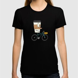 Coffee Cup Biking T-shirt