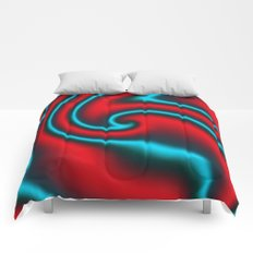 Fire Mint Ribbon Candy Fractal Comforters