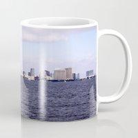 san diego Mugs featuring Good Morning San Diego  by Ashley Marcy