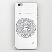 focus iPhone & iPod Skins featuring What to focus on by Marc Johns