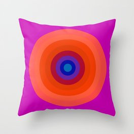Lighter Bullseye Throw Pillow