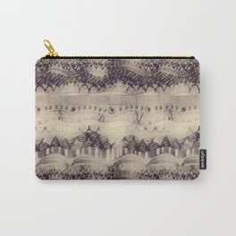 Abstract Sepia Aztec Texture Carry-All Pouch