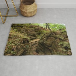Fern Canyon at Starved Rock State Park Illinois Rug