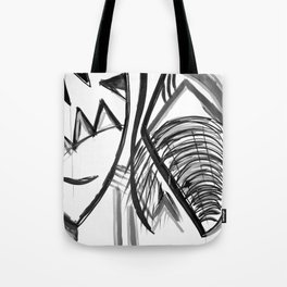 Abstract Dreams in black and white, pillow Tote Bag