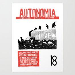 Autonomia n. 18 Art Print