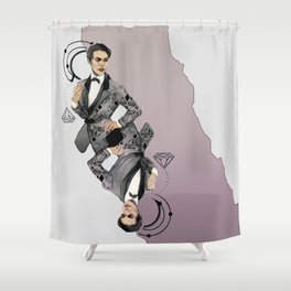 King of Carbon Shower Curtain
