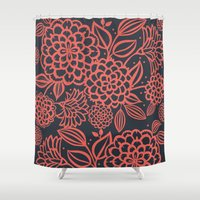 santa monica Shower Curtains featuring Santa Monica Polly  by November Tigerlilly