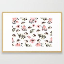 Floral hedgehog Framed Art Print