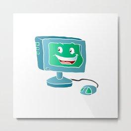 Computer Smile. Metal Print