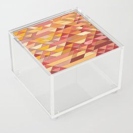 Triangle Pattern no.4 Warm Colors Red and Yellow Acrylic Box