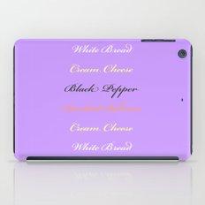 Salmon and Cream Cheese iPad Case