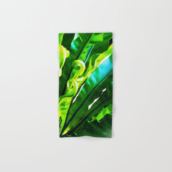 Shy Fern #society6 #decor #buyart Hand & Bath Towel