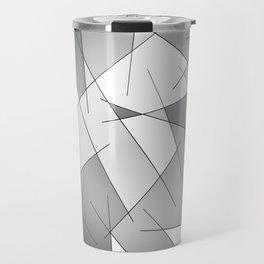 ABSTRACT LINES #1 (Grays & White) Travel Mug