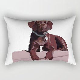 Labrador dog (chocolate) Rectangular Pillow