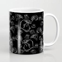Birds of Prey - White on Black Coffee Mug