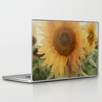 sunflower Laptop & iPad Skins featuring sunflower by VanessaGF