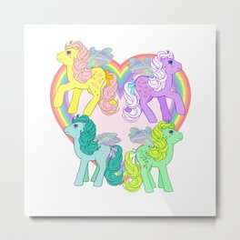 g1 my little pony Flutter Ponies Metal Print