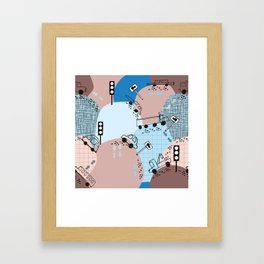 Four wheels blue #homedecor Framed Art Print