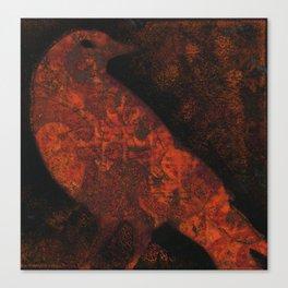 Orange Bird Canvas Print