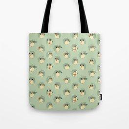 Adorable Green Penguin Pattern Tote Bag