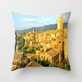 View of San Gimignano, Italy, from Albergo La Cisterna Hotel Throw Pillow