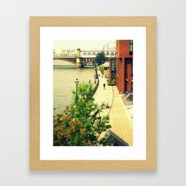 Along the River Thames. Framed Art Print