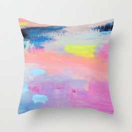 Dreamy Abstract pink Art  Throw Pillow