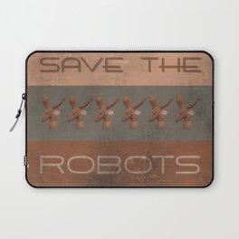 Save The Robots Laptop Sleeve