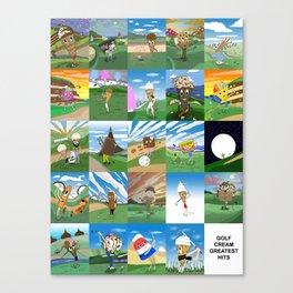 GOLF CREAM GREATEST HITS Canvas Print