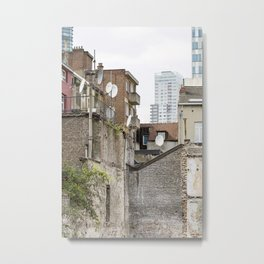 Tetris Architecture Metal Print