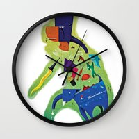 philippines Wall Clocks featuring The Philippines as a Menagerie by Dan Matutina