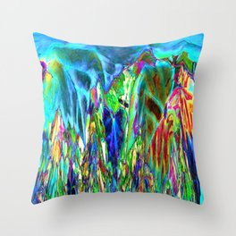 Inverted/Solarized Abstract 3 Throw Pillow