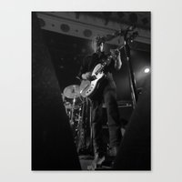 queens of the stone age Canvas Prints featuring josh homme // queens of the stone age by Hattie Trott
