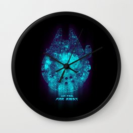 Go Far, Far Away Wall Clock