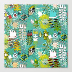 wired weed turquoise blue Canvas Print