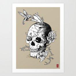 Skull one A Art Print