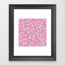 Pink Donut with Sprinkles Framed Art Print