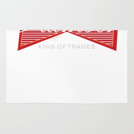 Funny Plumber King of Trades Gift Rug