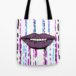 Glitter Lips Abstract Tote Bag