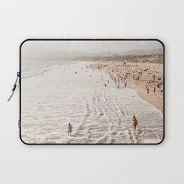 Coast Of California Santa Monica  Photo | Pacific Ocean Beach Art Print | USA Travel Photography Laptop Sleeve