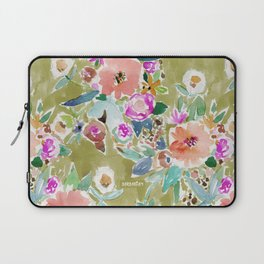 K.I.S.S. Colorful Floral Laptop Sleeve