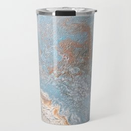 Rose Gold & Baby Blue Travel Mug