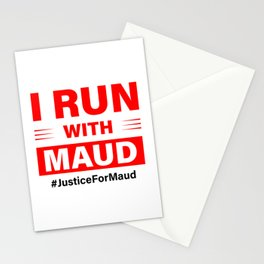 i run with maud Stationery Cards
