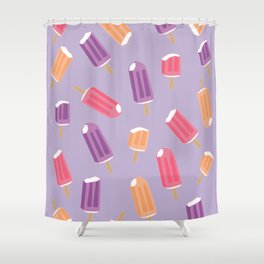 Rainbow Fruit Creamsicle Pattern Shower Curtain