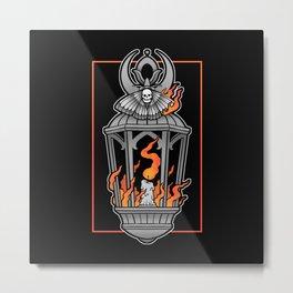 Moth Into Flame Metal Print