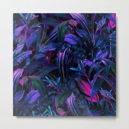 Future Garden Tropical Night Metal Print