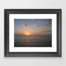 Mexican Sunset Framed Art Print